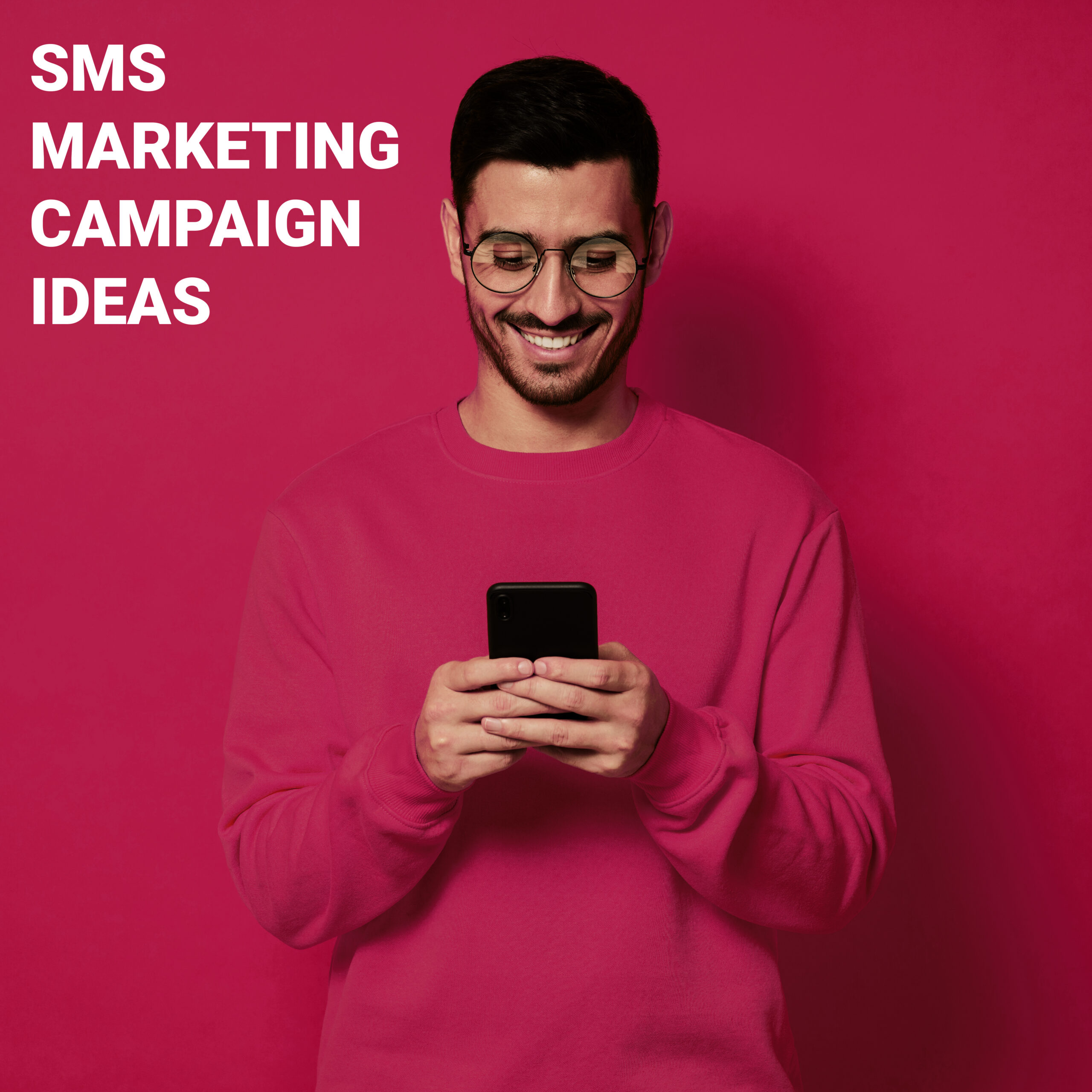 Customer Looking at an SMS Marketing Campaign